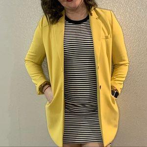 Long yellow blazer